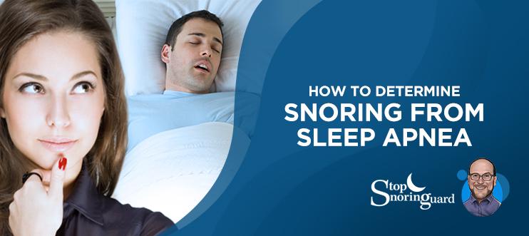 determine loud snoring and sleep apnea