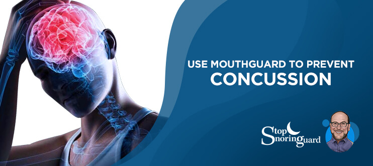 mouth guard for concussion protection
