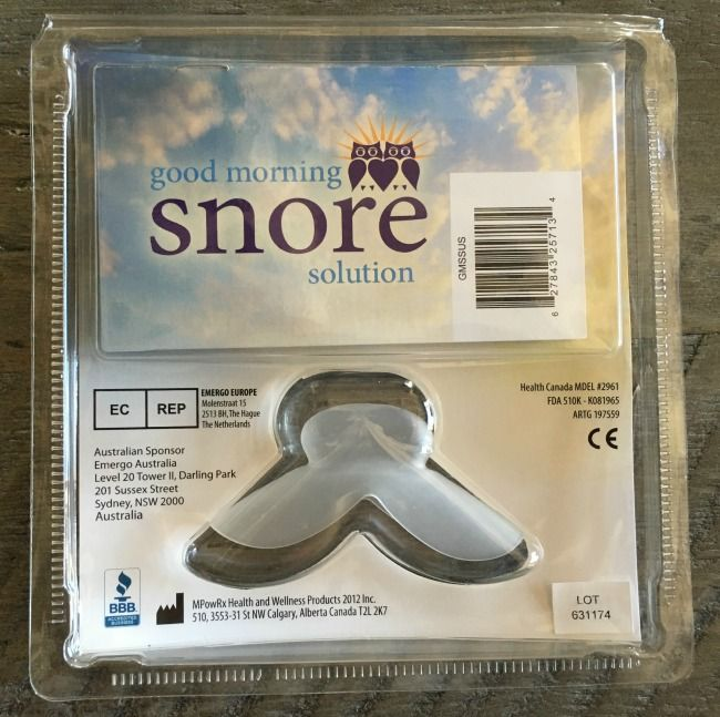 good morning snore solution back packaging