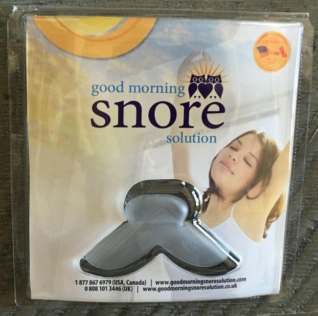 good morning snore solution top view packaging