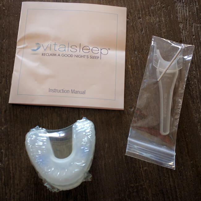 vital sleep packaging for stop snoring mouthpiece