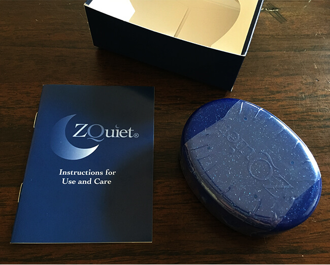 zquiet case and instructions for use