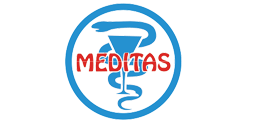 a logo of meditas that worked on sleeppro snore solution mouthguard